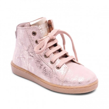 """Chaussures Bisgaard """"Shoes with laces"""" Nude"""