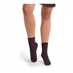 "Chaussettes courtes ""Aubergine"" - Made in France"