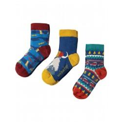 """Assortiment de 3 paires de chaussettes """"Walrus"""" - coton bio"""