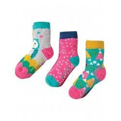 """Assortiment de 3 paires de chaussettes """"Barn Owl"""" - coton bio"""