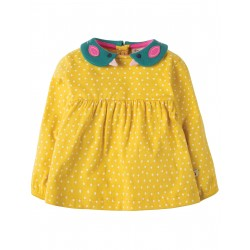 "Blouse ""Bleubird Collar Top, Gorse Speckle Spot, Bird"" - coton bio"