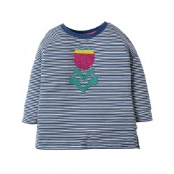 "T-shirt ""True Blue Tiny Breton, Tulip"" - coton bio"
