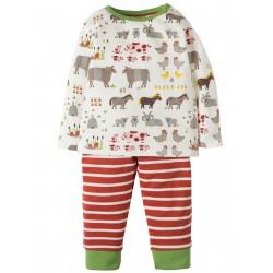 "Pyjama deux-pièces ""Soft White Hay Days"" - coto bio"