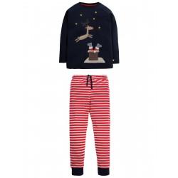 """Pyjama deux-pièces """"Navy, Reindeer"""" - coton bio"""