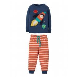 "Pyjama ""Marine Blue, Rocket"" - coton bio"