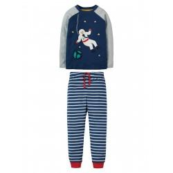 """Pyjama """"Marine Blue, Spaceman"""" - coton bio"""