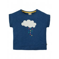 "T-shirt ""Marine Blue, Cloud"" - coton bio"