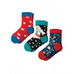 """Assortiment de 3 paires de chaussettes """"Space"""" - coton bio"""