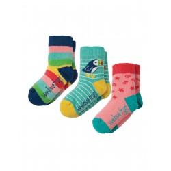 """Assortiment de 3 paires de chaussettes """"Rainbow"""" - coton bio"""