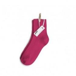"""Chaussettes """"Courtes à côtés"""" Pink Lady - Made in France"""