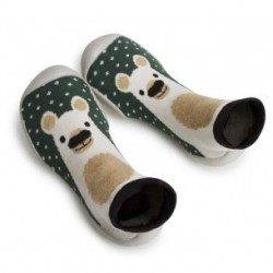 "Chaussons ""Winter in Russia - The Bear"" - Made in France"