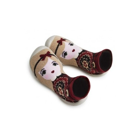 "Chaussons ""Winter in Russia - Tsarine"" - Made in France"