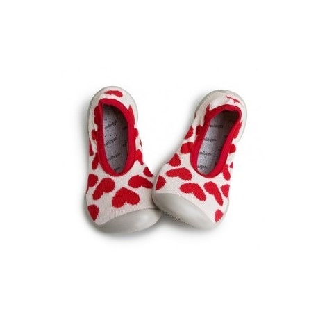 """Chaussons ballerines """"We Love U - Just in Love"""" - Made in France"""