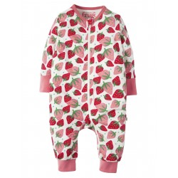 "Pyjama bébé ""Summer Zip Babygrow, Scilly Strawberries"" - coton bio"