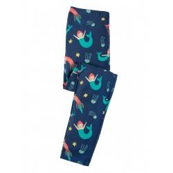 "Legging ""Libby Printed Leggings, Marine Blue Mermaid Magic"" - coton bio"