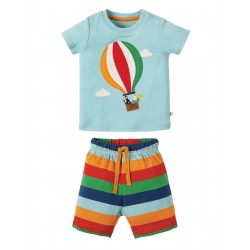 "Pyjama ""Little Perran Pyjamas, Tidal Blue Hot Air Balloon"" - coton bio"