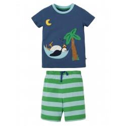 """Pyjama """"Praa pyjamas, Marine Blue Puffin"""" - coton bio"""