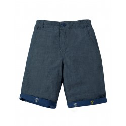 "Short ""Ralph Reversible Shorts, Marine Blue Anchors"" - coton bio"