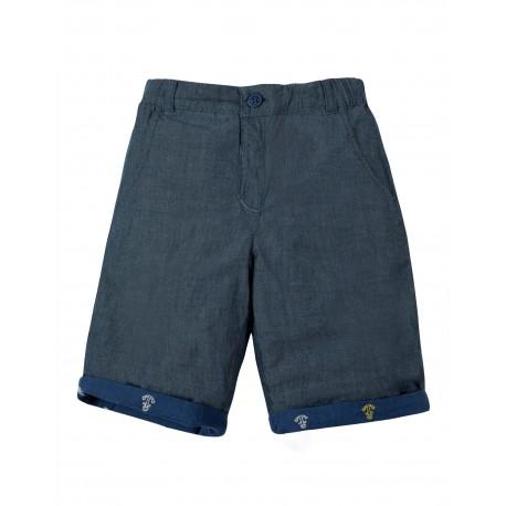"Short ""Ralph Reversible Shorts, Marine Blue Anchors"" - coton bio"
