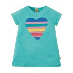 "T-shirt ""Sophie Sequin Applique Top, St Agnes Sequin Heart"" - coton bio"