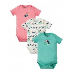 "Assortiment de 3 bodys ""Super Special 3 Pack Body, Puffin Multipack"" (à la pièce) - coton bio"