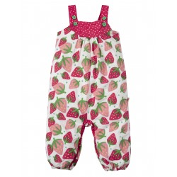 "Combinaison bébé ""Springtime Dungaree, Strawberries"" - coton bio"