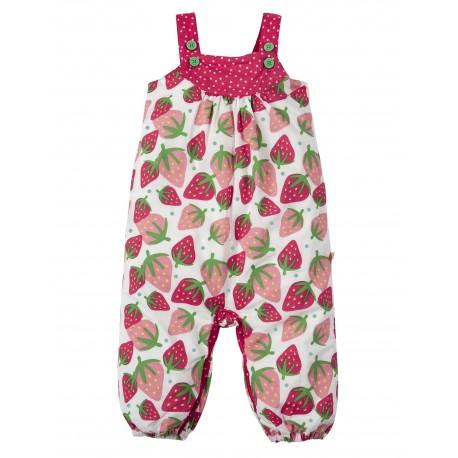 "Combinaison bébé ""Springtime Dungaree, Strawberries"" - coton bio"