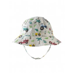 "Chapeau bébé réversible ""Little Dexter Reversible Hat, Tropical Tresco"" - coton bio"