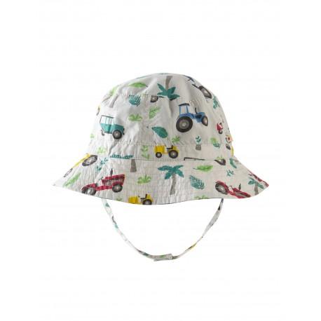 """Chapeau bébé réversible """"Little Dexter Reversible Hat, Tropical Tresco"""" - coton bio"""
