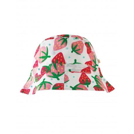 """Chapeau réversible """"Hattie Reversible Hat, Scilly Strawberries"""" - coton bio"""