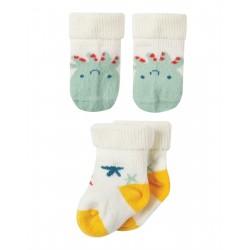 "Chaussettes bébé ""Comfy Rib Socks 2 Pack, Squid Multipack"" - coton bio"