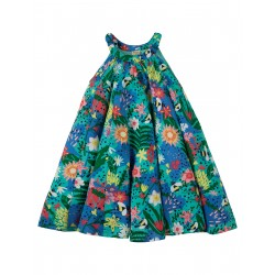 "Robe enfant ""Tabitha Trapeze Dress, Hothouse Floral"" - coton bio"