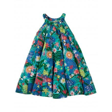"Robe enfant ""Tabitha Trapeze Dress, Hothouse Floral"" - coton bio"