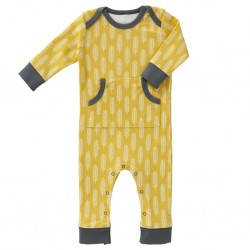 "Pyjama / play suit ""Havre vintage yellow"" - coton bio"
