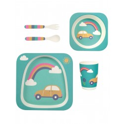 "Set de vaisselle en bamboo ""Bamboo Dinner Set, Rainbow"""