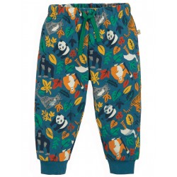 "Pantalon bébé ""Snuggle Crawlers, Steely Blue Endangered Hero"" - coton bio"
