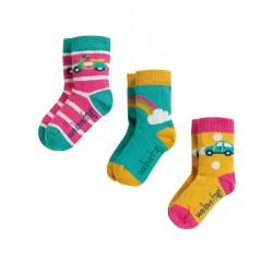 """Chaussettes bébé """"Little Socks 3 Pack, Rainbow Multipack"""" - coton bio"""
