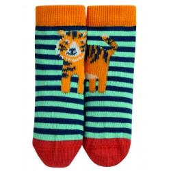 """Chaussettes bébé """"Perfect Little Pair Socks, Topaz Stripe Tiger"""" - coton bio"""