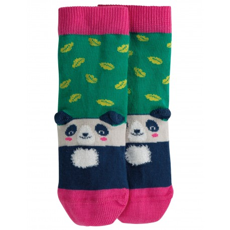 "Chaussettes ""Perfect Pair Socks, Jade Leaf Panda"" - coton bio"