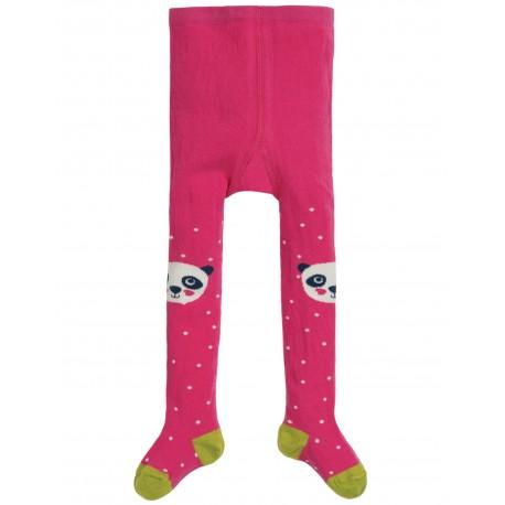 "Collants bébé ""Little Fun Knee Tights, Flamingo Spot Panda"" - coton bio"
