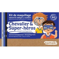"Kit de maquillage 3 couleurs ""Chevalier & Super-héros"""
