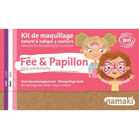 "Kit de maquillage 3 couleurs ""Fée & Papillon"""