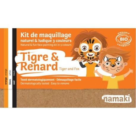 """Kit de maquillage 3 couleurs """"Tigre & Renard"""""""