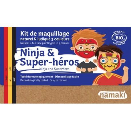 """Kit de maquillage 3 couleurs """"Ninja & Super-héros"""""""