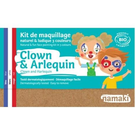 """Kit de maquillage 3 couleurs """"Clown & Arlequin"""""""