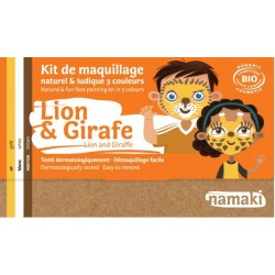 "Kit de maquillage 3 couleurs ""Lion & Girafe"""