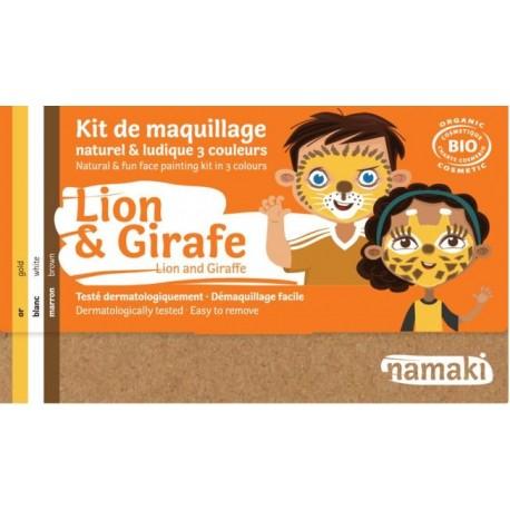 "Kit de maquillage 3 couleurs ""Lion & Girafe"""