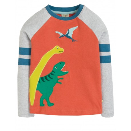 "T-shirt ""Alfie Applique Top, Paprika/Dinos"" - coton bio"