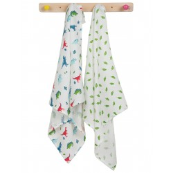 "Assortiment de 2 Tetra ""Lovely 2 Pack Muslin, Dino Multipack"" - coton bio"