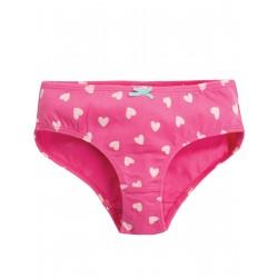 """Culotte """"Polly Printed Briefs, Flamingo Hearts"""" - coton bio"""